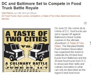 Baltimore vs DC - Foodtrucks