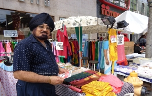In Little India in Toronto commerce spills onto the street