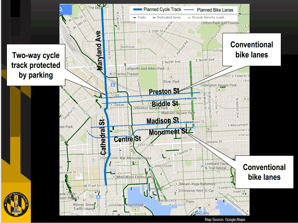 The Historic Beginning of Baltimores Downtown Bicycle Network