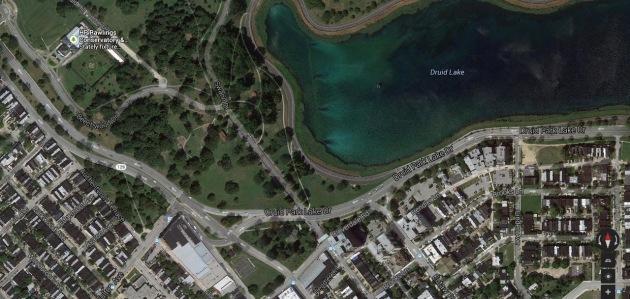 Overview of Druid Hill Park