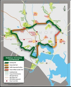 "Baltimore Trail ""Beltway""-concept by Jim Brown, Rails to Trails Conservancy"